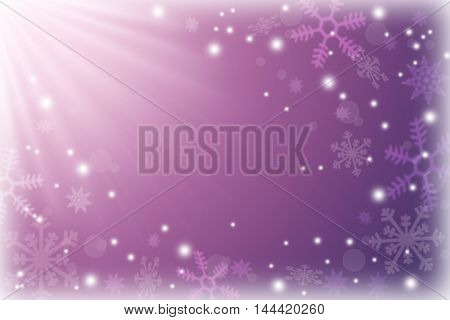 Festive winter background. Gentle colors of a winter sunrise. Snowfall. Fairy tale. Childhood. Dream. Christmas.