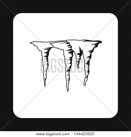 Icicles icon in simple style isolated on white background. Winter symbol