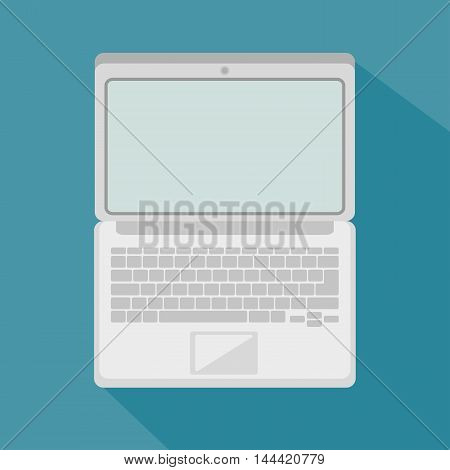 laptop computer portable icon vector illustration graphic