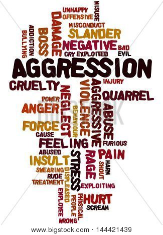 Aggression, Word Cloud Concept 5