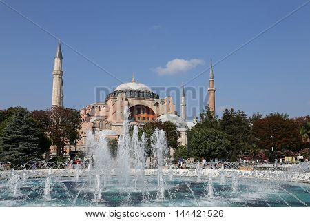 Hagia Sophia Museum In Istanbul City
