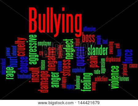Bullying, Word Cloud Concept 3