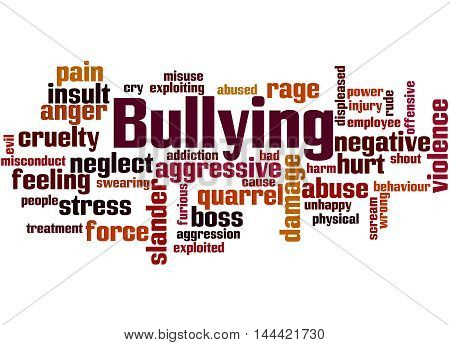 Bullying, Word Cloud Concept 7
