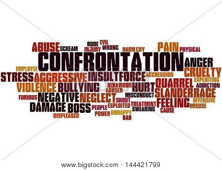 Confrontation, Word Cloud Concept 3