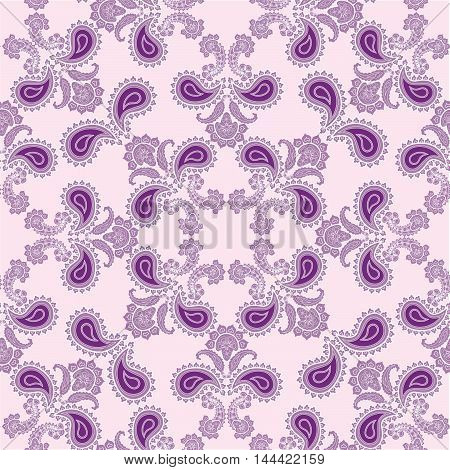 Abstract flourish seamless pattern Floral arabic ornament. Stylish abstract ornamental lace background