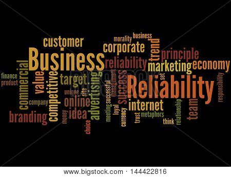 Business Reliability, Word Cloud Concept