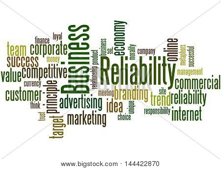 Business Reliability, Word Cloud Concept 4