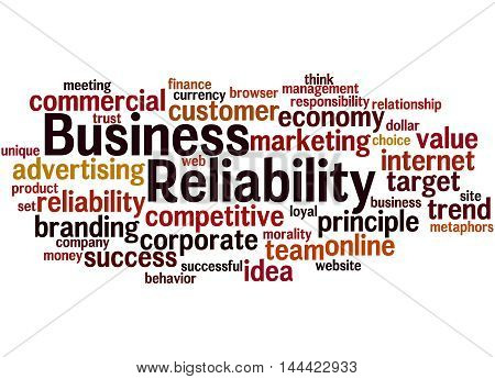 Business Reliability, Word Cloud Concept 9
