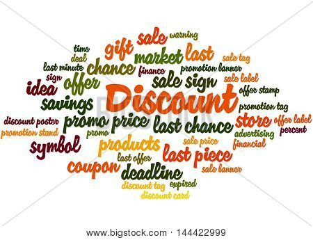 Discount, Word Cloud Concept 5