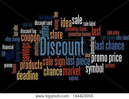 Discount, Word Cloud Concept 7