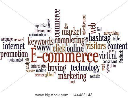 E-commerce, Word Cloud Concept 3