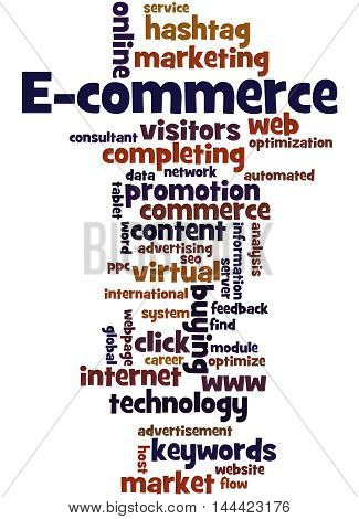 E-commerce, Word Cloud Concept 5