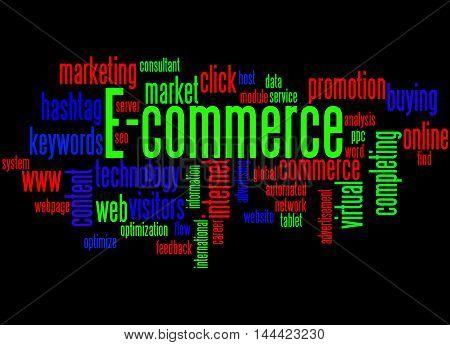 E-commerce, Word Cloud Concept 8