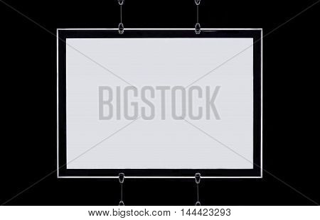 Modern White Frame In Blank