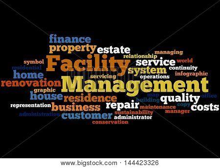Facility Management, Word Cloud Concept 4