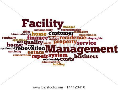 Facility Management, Word Cloud Concept 9