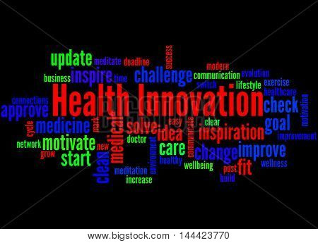 Health Innovation, Word Cloud Concept