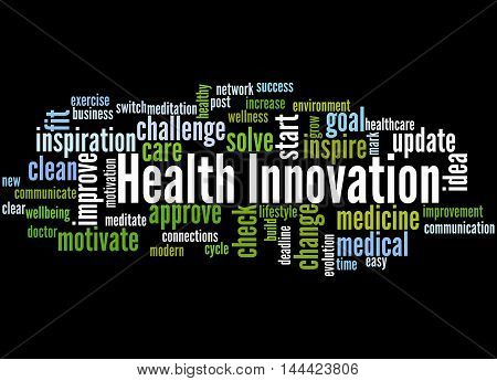 Health Innovation, Word Cloud Concept 3