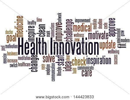Health Innovation, Word Cloud Concept 5