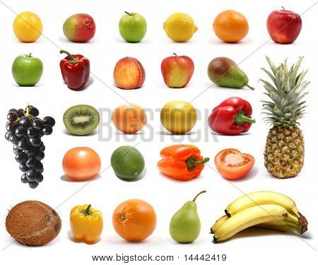 Healthy nutrition isolated on white