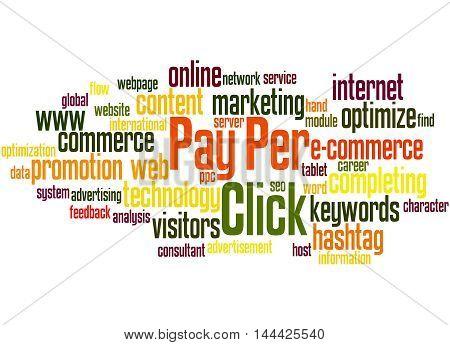 Pay Per Click, Word Cloud Concept