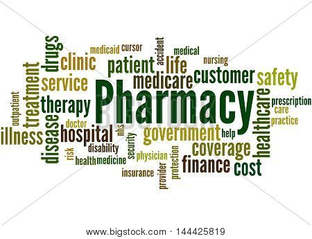 Pharmacy, Word Cloud Concept 2