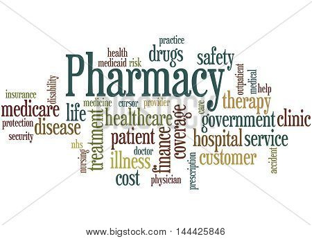 Pharmacy, Word Cloud Concept 3
