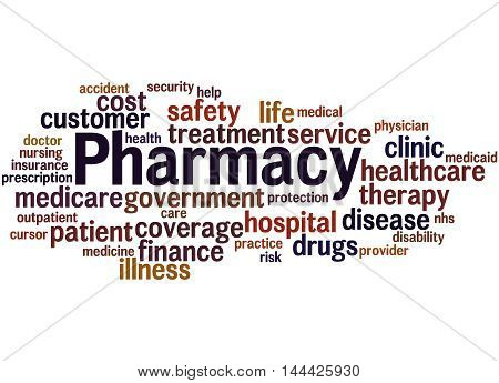 Pharmacy, Word Cloud Concept 8