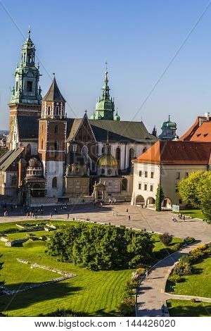 Wawel Cathedral In Krakow In Poland.