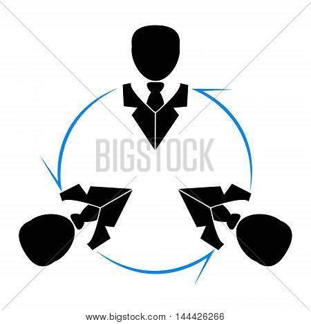 Business company logo team work vecto, logo