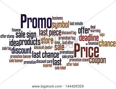 Promo Price, Word Cloud Concept 6