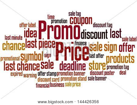 Promo Price, Word Cloud Concept 7