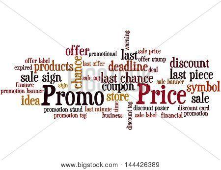 Promo Price, Word Cloud Concept 9
