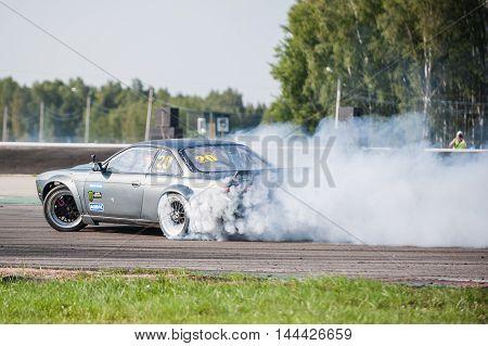 Nizhny Novgorod Russia Aug 20, 2016 : Russian Drift Series Stage 5 RDS Zapad West. Montenegrins Andrew. Nissan 200SX S14.