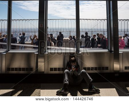 Observation Deck Of Empire State Building