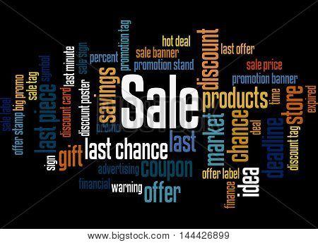 Sale, Word Cloud Concept 7