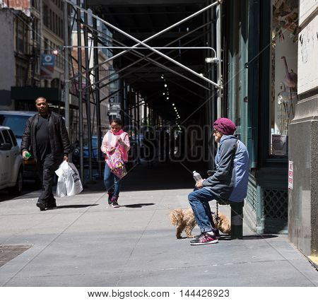 Manhattan Street Scene, Nyc