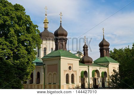 Holy Trinity Monastery of St. Jonas of the 19th century in Kiev