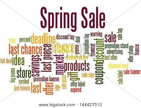 Spring Sale, Word Cloud Concept 2