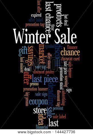 Winter Sale, Word Cloud Concept 2