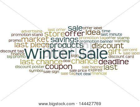 Winter Sale, Word Cloud Concept 3