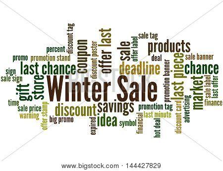 Winter Sale, Word Cloud Concept 4