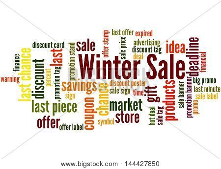 Winter Sale, Word Cloud Concept 5