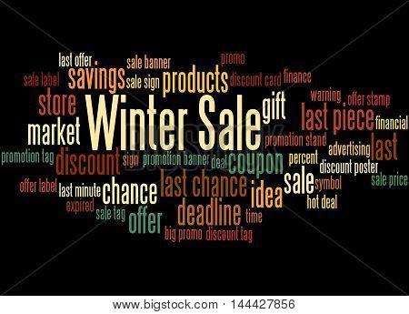 Winter Sale, Word Cloud Concept 6
