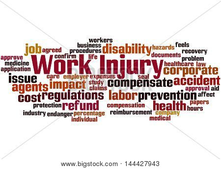 Work Injury, Word Cloud Concept 3