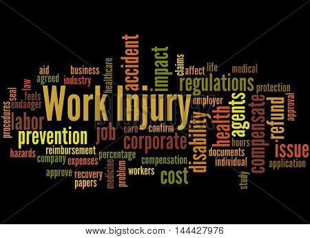 Work Injury, Word Cloud Concept 6
