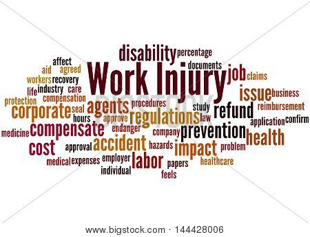 Work Injury, Word Cloud Concept 8