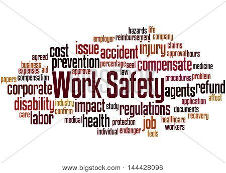 Work Safety, Word Cloud Concept 2