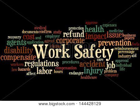 Work Safety, Word Cloud Concept 4