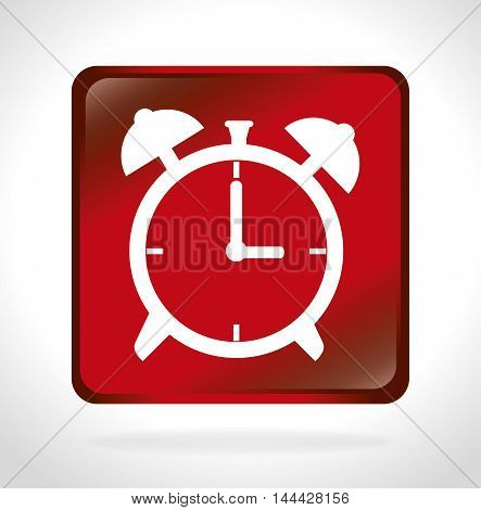time clock watch wall isolated icon vector illustration design